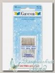 Иглы для швейных машин бытовых GAMMA NU-10 №70-100 универсальные ассорти 10 шт