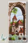 Канва с нанесенным рисунком *Крыши старого города* Матренин Посад 1497