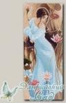 Канва с нанесенным рисунком *Девушка в лилиях* Матренин Посад 1051