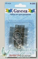 Набор игл для рукоделия Gамма N-205, 30 шт