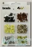 Набор брадс разноцветных серия *Cappella* MET2416 Basic Grey 180 шт