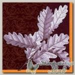 Салфетка для декупажа трехслойная *Дубовые листья* 33 х 33 см 1 шт
