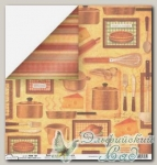 Бумага для скрапбукинга двусторонняя Mr. Painter PSW190/161 1 лист