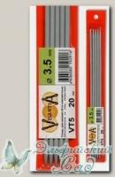 Чулочные спицы Visantia VT5 d=3,5 мм 20 см