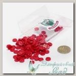 Пуговицы декоративные на два прокола *Мини* (цвет - красный) 100 шт КЛ21623