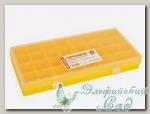 Коробка пластиковая для швейных принадлежностей Профи-5 (цвет-желтый)