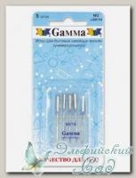 Иглы для швейных машин бытовых GAMMA NU №90 универсальные 5 шт