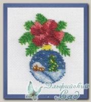 КЛАРТ Набор для вышивания бисером 8-047 *Новогодний шарик с домиком*