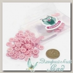 Пуговицы декоративные для скрапбукинга *Мини* (цвет - розовый) 80 шт КЛ21633