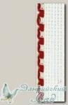 Канва-лента 5500-50 Aida 16 (цвет кромки № 14 - красный), 50 мм (метраж), 10 см