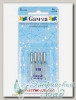 Иглы для швейных машин бытовых GAMMA NU №110 универсальные 5 шт