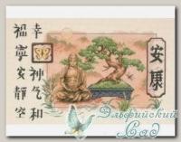 DIMENSIONS Набор для вышивания 35085 *Bonsai and Buddha (Бонсаи и Будда)*