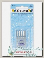 Иглы для швейных машин бытовых GAMMA NT №90 для трикотажа 5 шт