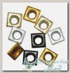Люверсы *Квадраты* (металлизированные цвета) 7830549 Rayher, 6 мм, 50 шт