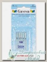 Иглы для швейных машин бытовых GAMMA NT №100 для трикотажа 5 шт