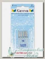 Иглы для швейных машин бытовых GAMMA NT №70 для трикотажа 5 шт