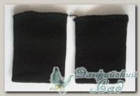 Манжеты трикотажные (черный), 8 х 10 см, 2 шт