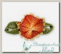 Декоративные элементы *Цветок* (оранжевый) FL063 10 шт