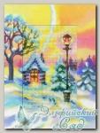 RTO Вышивка с открыткой-паспарту CH807 *Зимний закат*
