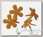 Клипсы (брадс) *Цветок оранжевый* 7835534 Rayher, d=12 мм, 50 шт