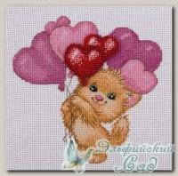 КЛАРТ Набор для вышивания 8-189 *Котик с шариками*
