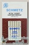 Иглы для бытовых швейных машин для кожи Schmetz № 80, 5 шт