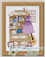 RIOLIS Набор для вышивания 1373 *Шкафчик для девочки*