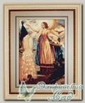 G461 Набор для вышивания *Девушка, кормящая павлинов*, Luca-S