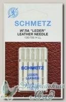 Иглы для бытовых швейных машин для кожи Schmetz № 100, 5 шт