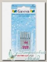 Иглы для швейных машин бытовых GAMMA NT №130 для трикотажа 5 шт