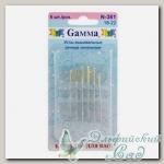 Иглы для вышивания лентами (синельные) Gамма N-381, №18-22, 6 шт