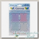 Бобинки для мулине Gamma LB-20 пластик (ассорти)
