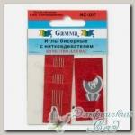 Иглы бисерные Гамма (Gamma) NC-207 6 шт d=0.46 мм