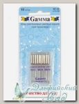 Иглы для швейных машин бытовых GAMMA NT-10 №75-100 для трикотажа ассорти 10 шт