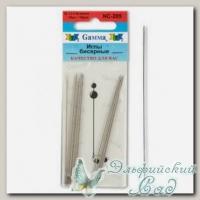 Иглы бисерные Гамма (Gamma) NC-205 10 шт d=1.2 мм
