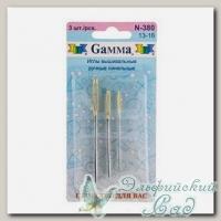 Иглы для вышивания лентами (синельные) Gамма N-380, №13-16, 3 шт
