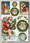 Рисовая бумага для декупажа KPR Love2Art (0014 Санта Клаус) 32х22 см, 1 шт