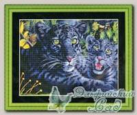 Набор для вышивания *Черная пантера с детенышем*, Kustom Krafts
