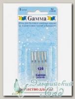 Иглы для швейных машин бытовых GAMMA NJ №120 для джинсы 5 шт