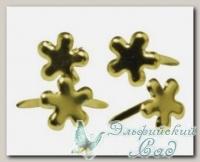 Клипсы (брадс) *Цветок золотистый* 7835306 Rayher, d=4 мм, 100 шт