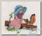 8-133 Набор для вышивания *Девочка с белочкой*, Кларт