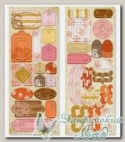 Картонные элементы (чипборд) *Ярлычки №1* HIB/04 Mr.Painter