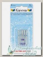 Иглы для швейных машин бытовых GAMMA NJ №130 для джинсы 5 шт