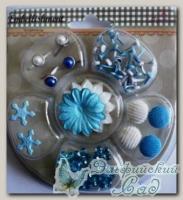 Набор брадсов с цветами для скрапбукинга XHEM012
