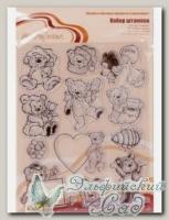 ASM-14 Набор штампов *Мишки №2* Mr. Painter