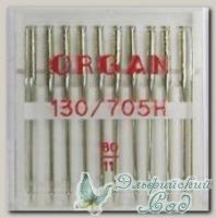 Иглы ORGAN для бытовых швейных машин - универсальные № 80, 10 шт