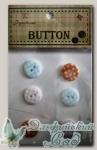 Пуговицы декоративные для скрапбукинга FB1033 6 шт