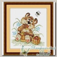 М.П.Студия Набор для вышивания М-076 *Мишкина радость*