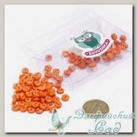 Пуговицы декоративные на два прокола *Мини* (цвет - оранжевый) 100 шт КЛ21608