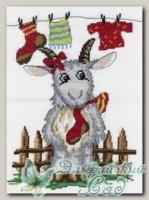 М.П.Студия Набор для вышивания НВ-269 *Коза с носком*
